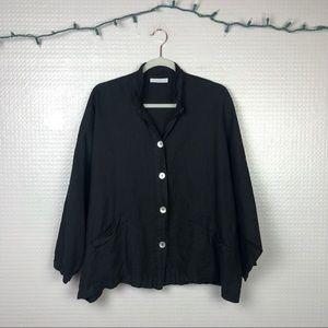 Bryn Walker | 100% Linen Danuta Jacket Black S